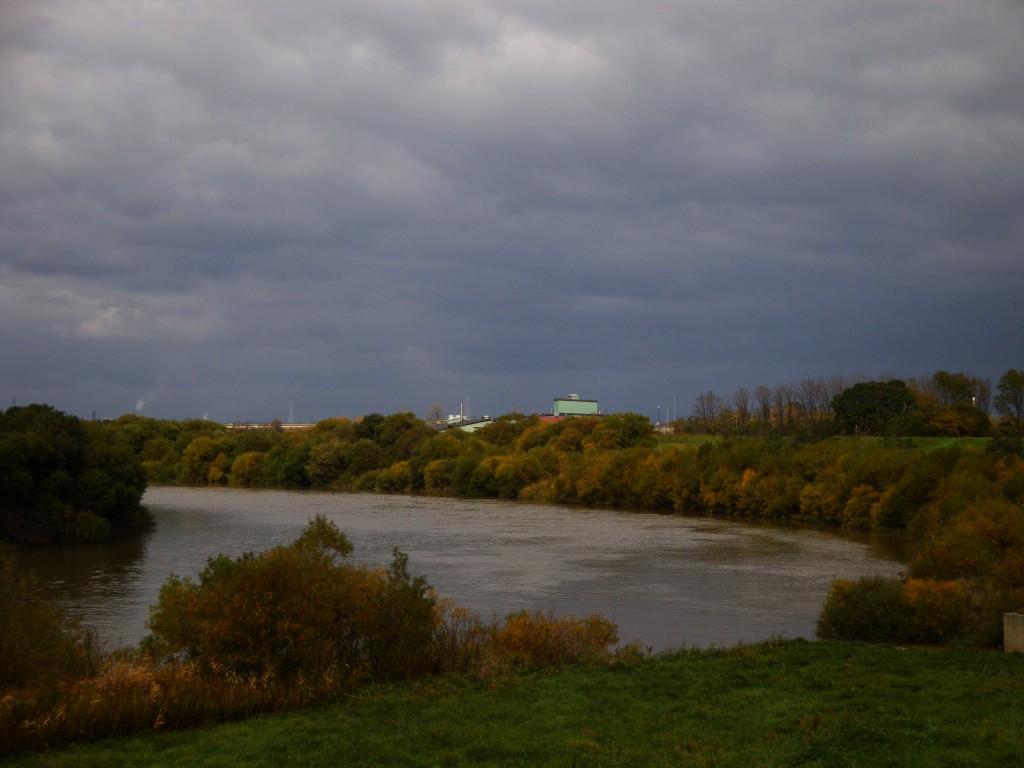 千歳川と幌向運河の合流点