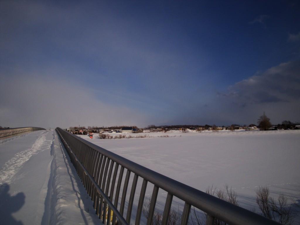 篠路新川と中沼中央川の分流点